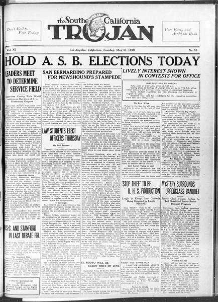 The Southern California Trojan, Vol. 11, No. 93, May 11, 1920