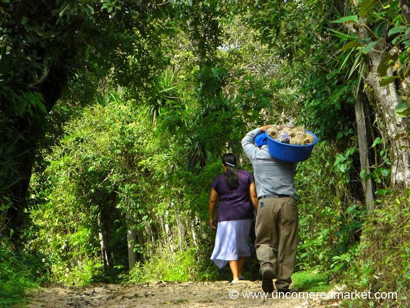 Couple Carrying Goods - Perquin, El Salvador