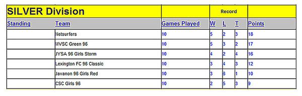 2008 Net-Surfers Fall Season Results