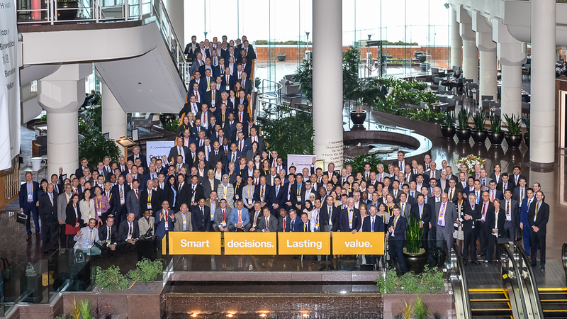 Large Group photography of the Crowe Horwath team at the Pan Pacific Hotel in Vancouver. Photography by Scott Brammer