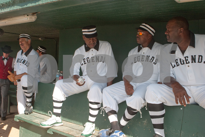 In the dugout.