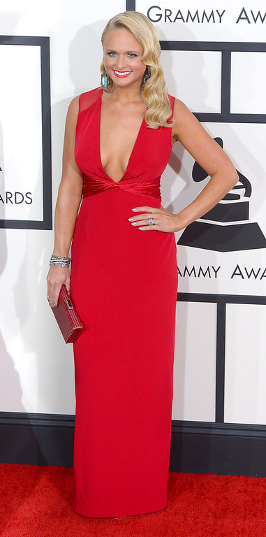 . Miranda Lambert arrives at the 56th Annual GRAMMY Awards at Staples Center in Los Angeles, California on Sunday January 26, 2014 (Photo by David Crane / Los Angeles Daily News)