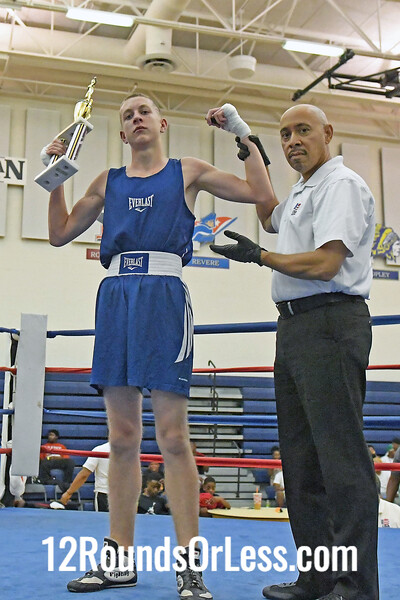 Bout #7:  Trent Cain, Blue Gloves   vs   Dante Thompkins, Red Gloves  -  155 Lbs.