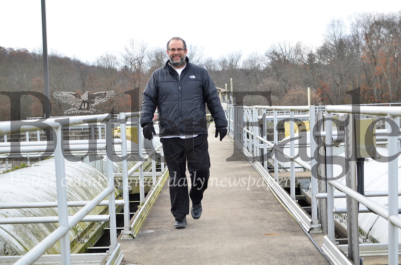 Paul Cornetti, manager of the Saxonburg Area Sewer Authority, gives a tour of the authority's Renfrew treatment center on November 14, 2018.Photos by Tanner Cole/Butler Eagle