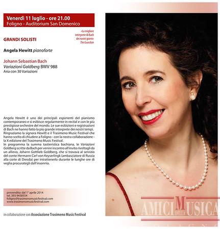 2014/07/11 Angela Hewitt, Johann Sebastian Bach, Variazioni Goldberg BWV 988