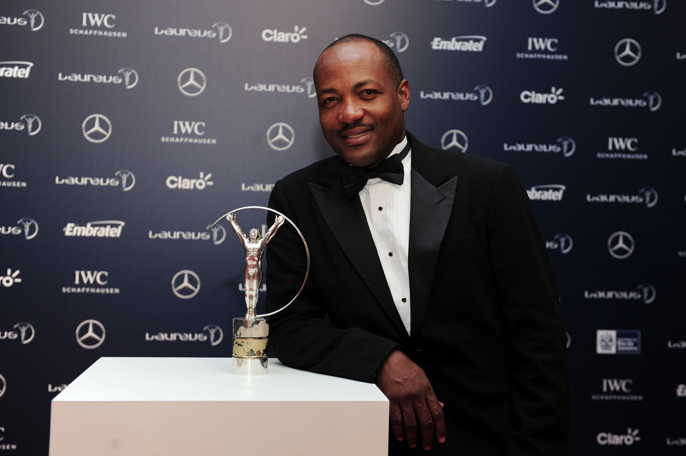 . Brian Lara attends the 2013 Laureus World Sports Awards at the Theatro Municipal Do Rio de Janeiro on March 11, 2013 in Rio de Janeiro, Brazil.  (Photo by Jamie McDonald/Getty Images For Laureus)