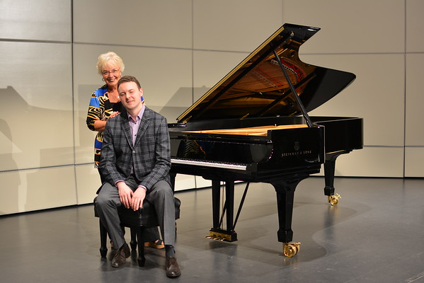 Piano photos with Janet Nine and Eric Zuber
