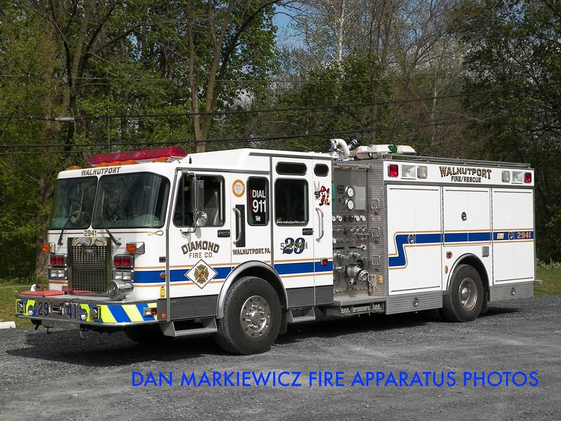 DIAMOND FIRE CO. RESCUE 2941 1996 SPARTAN/SAULSBURY PUMPER RESCUE