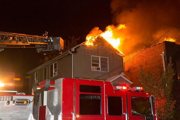 Lodi NJ 3rd alarm, 61 & 59 River St. 10-20-15