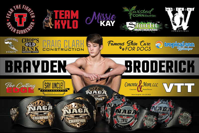 Fight Sponsorship Banner For Brayden Broderick