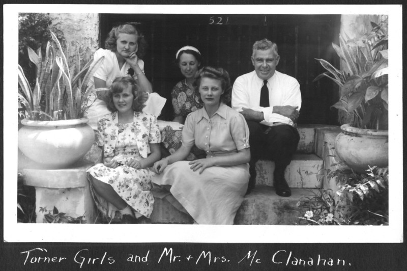 Velma, Lillian, and Virginia with the McClanahans. 1939.