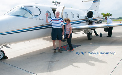 Val & Chuck departing in their jet