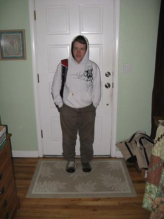 Ethan's first day of high school