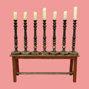 Patina Candle Sticks