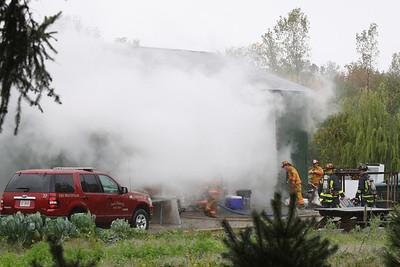 Avon Belden Pole Barn Fire