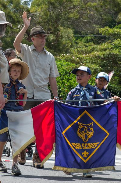 Small town parade, Hawaii Style