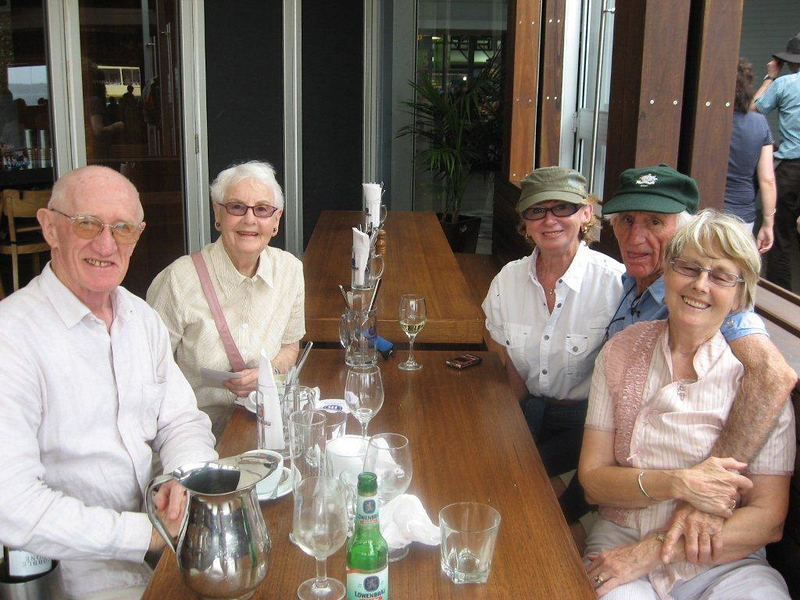 Colin Holmes, Thyra Pryor, Lyn Pryor, John Pryor, Enid Holmes, 3rd January 2010.