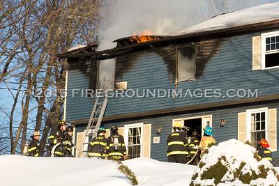 Settlers Farm Rd. Fire (Monroe, CT) 3/2/15