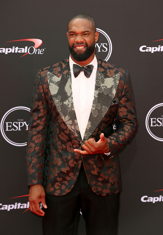 . Green Bay Packers\' Marcedes Lewis arrives at the ESPY Awards at Microsoft Theater on Wednesday, July 18, 2018, in Los Angeles. (Photo by Willy Sanjuan/Invision/AP)