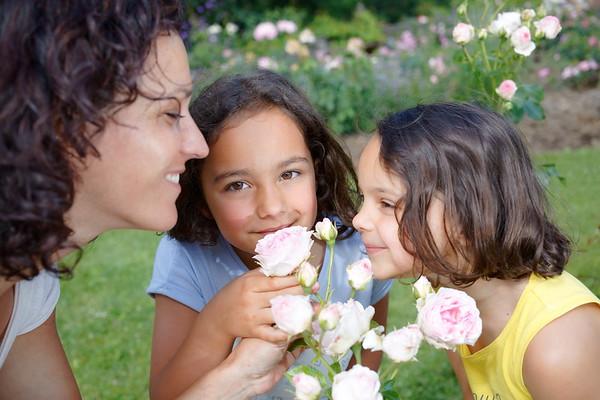 Route de la rose - filles mère