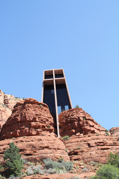 """Chapel of the Holy Cross -  """"a monument to faith, but a spiritual fortress so charged with God, that it spurs man's spirit godward."""" Built in 1956 to the design of Marguerite Brunswig Staude, a student of world-renown architect Frank Lloyd Wright."""