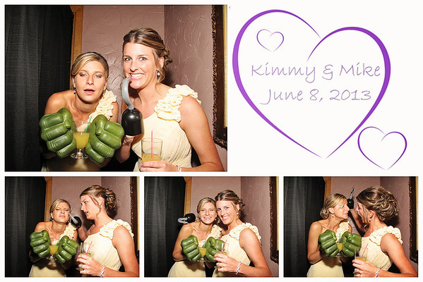 Kimmy & Mike Wedding Photo Booth