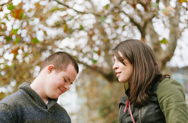 Young Man with an Intellectual Disability with a Young Woman