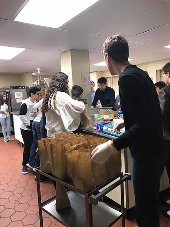 ACYOA Juniors lunch preparation for the homeless