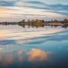 Fall Reflections in St Lawrence River (Montreal)