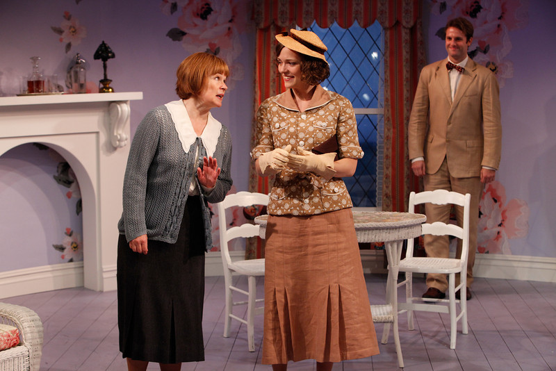 Margaret Daly, Leah Curney and Graham Outerbridge in IS LIFE WORTH LIVING? by Lennox Robinson  Photo: Richard Termine