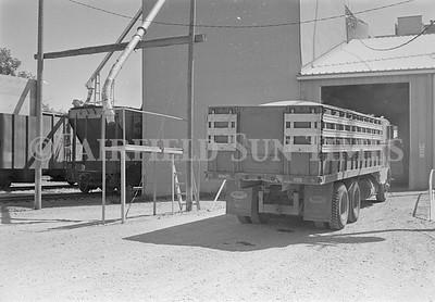 1986 - Loading Barley into Montana Merchandise Elevators, Fairfield