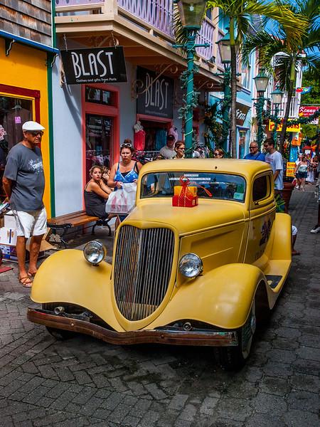 Yellow car in St. Maarten