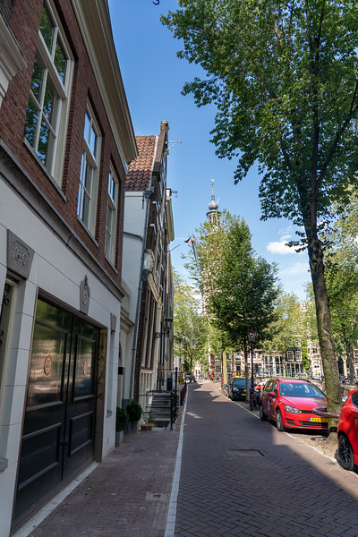 Crooked buildings in Amsterdam
