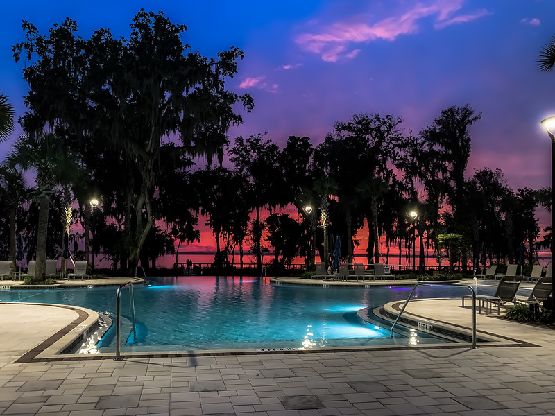 Sunset at the RiverClub