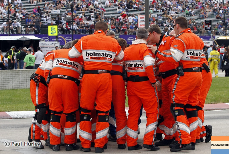 June 2: Safety crew during the Chevrolet Detroit Belle Isle Grand Prix.