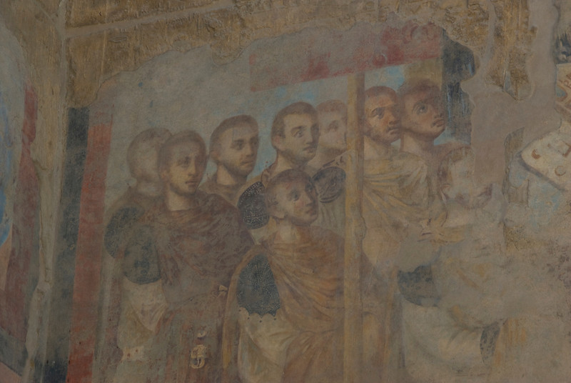 Byzantine Fresco at the Luxor Temple - Luxor, Egypt