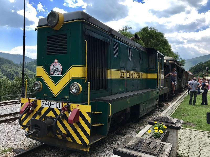 Sargan Eight narrow gauge railway near Mokra Gora