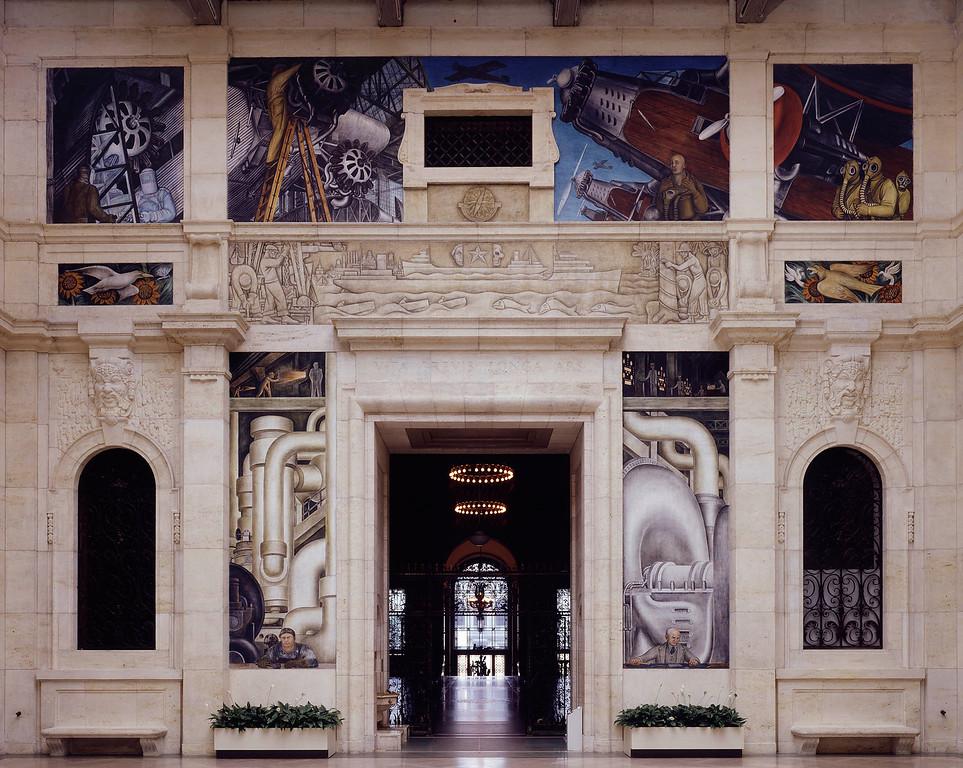 . Detroit Industry, west wall, Diego Rivera, 1932-33, fresco. Detroit Institute of Arts