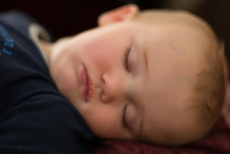 Breyden sleeping on Granny