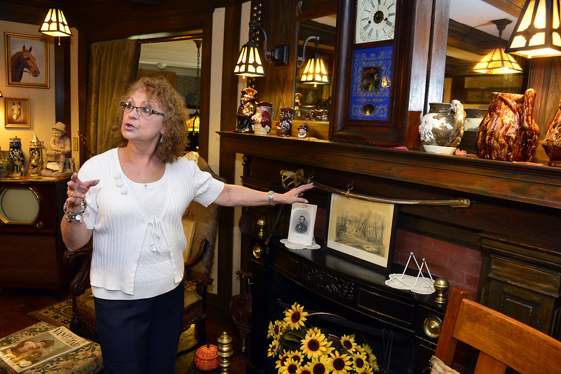 10/15/2014 Mike Orazzi | Staff Marie Secondo, curator of the Barnes Museum in Southington.