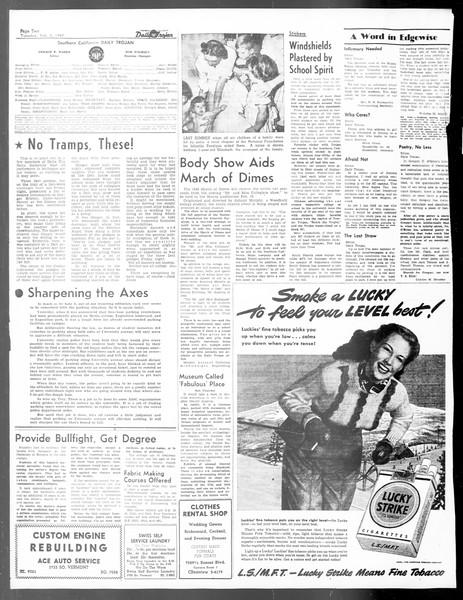 Daily Trojan, Vol. 40, No. 74, February 08, 1949