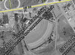 This 1951 aerial photo of the Union Drive-In shows the original layout. The next photo shows the second design which was supposedly incorporated to be able to show the movies a bit earlier due to the sun's position.
