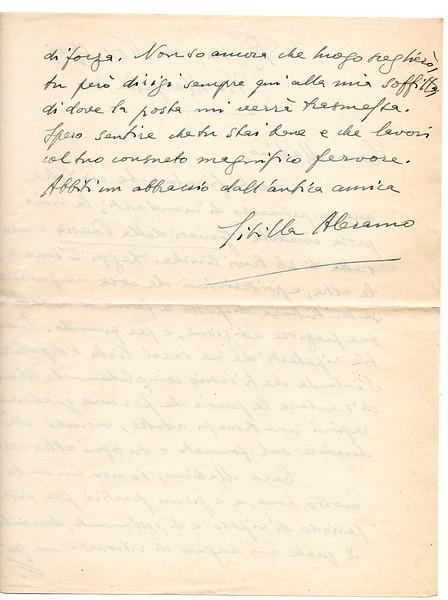 Sibilla Aleramo, 1949