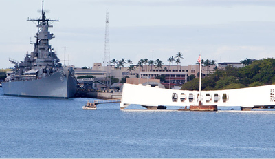 Arizona Memorial with the Mighty Missouri in the background