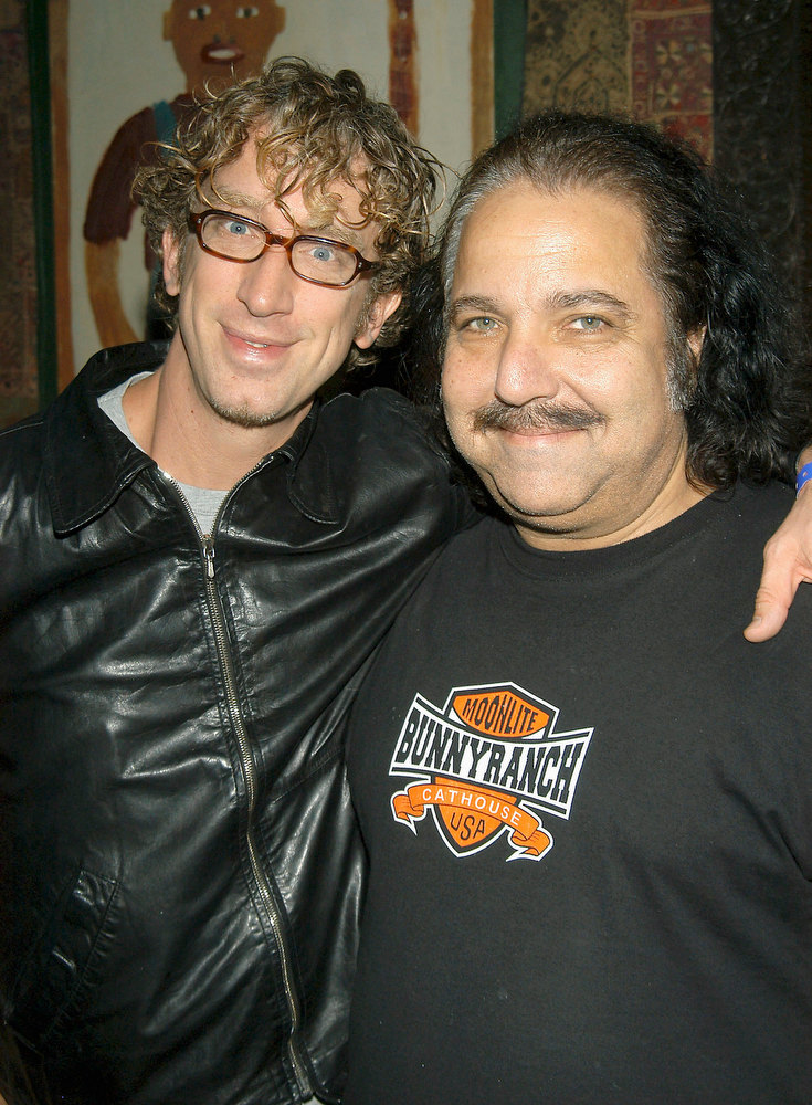 ". Actor Andy Dick and Actor Ron Jeremy attend the ""Andy Kaufman: Dead or Alive?\"" a celebration and tribute to Andy Kaufman on May 16, 2004 at The House of Blues, in Hollywood, California. (Photo by Stephen Shugerman/Getty Images)"