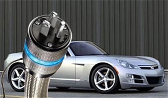 electric car with long extension cord
