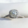 1.13ct Old Mine Cut Halo Ring, GIA M SI1 0