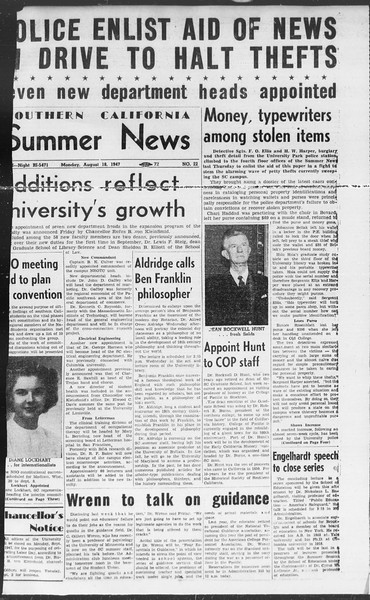 Summer News, Vol. 2, No. 22, August 18, 1947