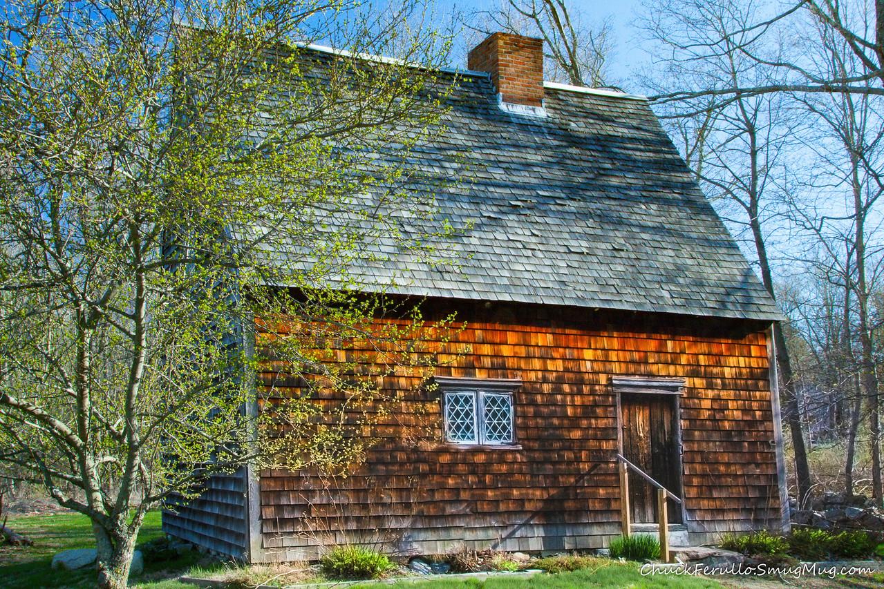 Peak House, Medfield, spring