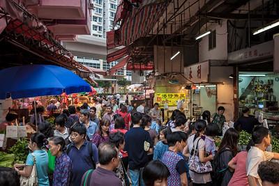 A popular market in Hong Kong